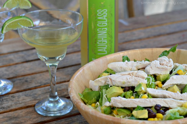 Easy Summer Dinners Kraft Chopped Grilled Chicken Salad with margaritas