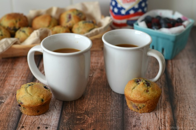 Healthy Berry Muffin recipe paired with coffee