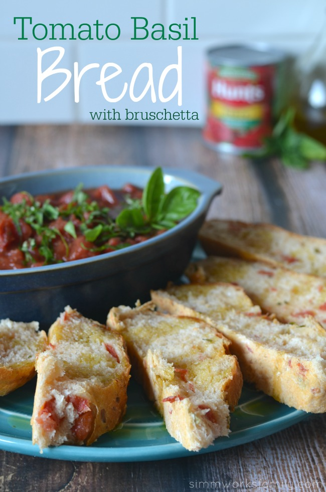 Tomato Basil Bread with Bruschetta