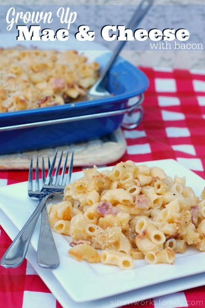 Grown Up Mac and Cheese with Bacon