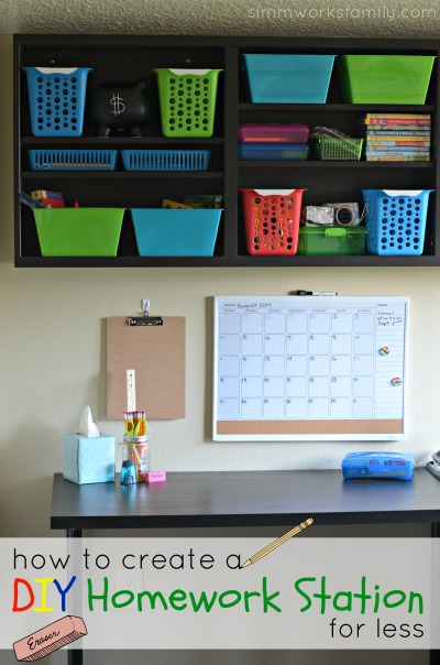 How to Create a DIY Homework Station for Less