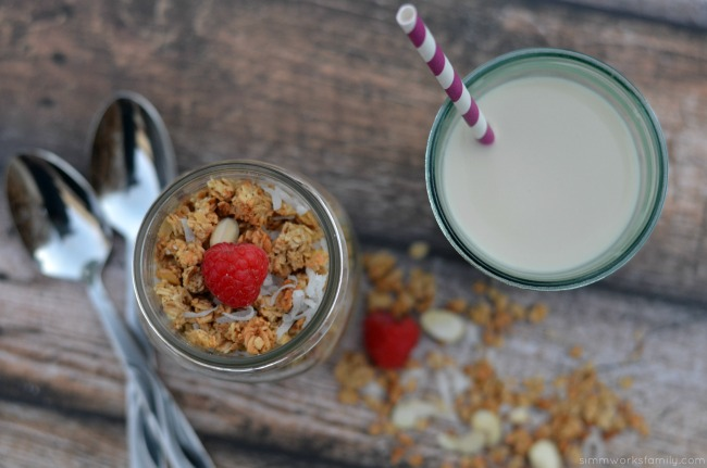 Packing the Protein for Breakfast plus an Almond Coconut Granola Recipe