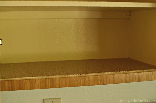 Revamping Old Kitchen Cabinets - old shelf liner