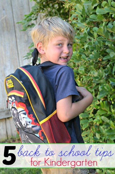 5 Back to School Tips for Kindergarten