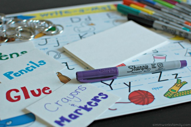 Back to School Organization with Sight Word Ideas - punch holes in cards