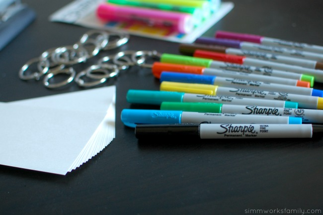 Back to School Organization with Sight Word Ideas - supplies