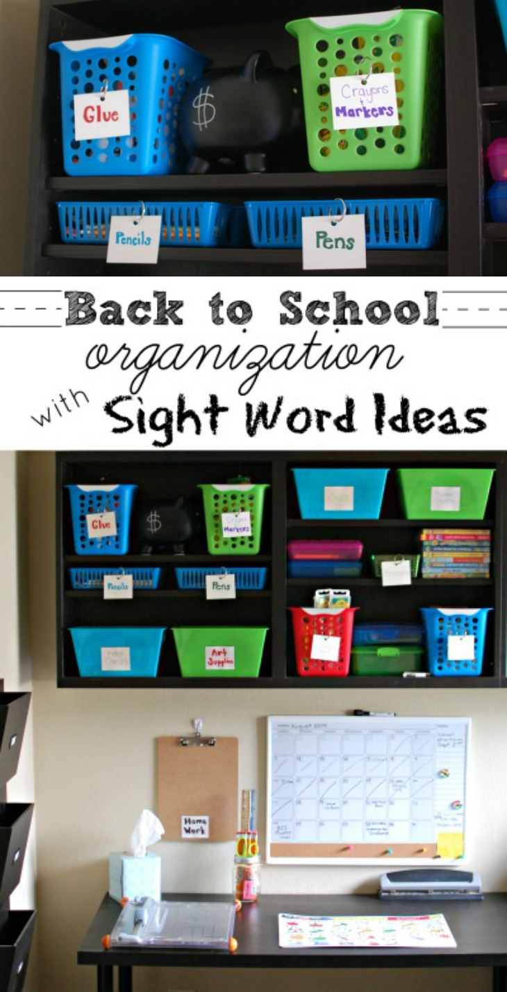 Back to school organization with sight word ideas a crafty spoonful - Back to school organization ...