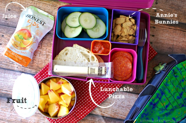 Healthy Back to School Lunch Tips - pizza lunchable
