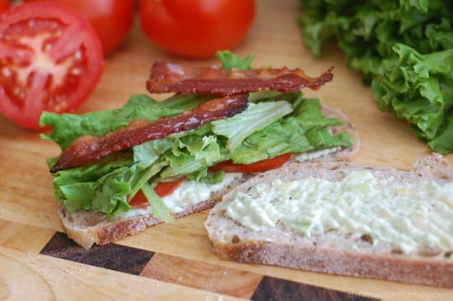 Ultimate BLT Sandwich - assembling sandwich