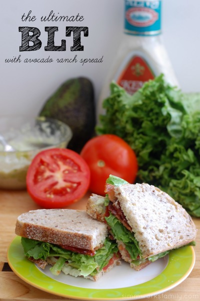 Ultimate BLT Sandwich with Avocado Ranch Spread