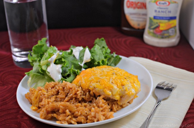 BBQ Ranch Chicken and Rice Casserole