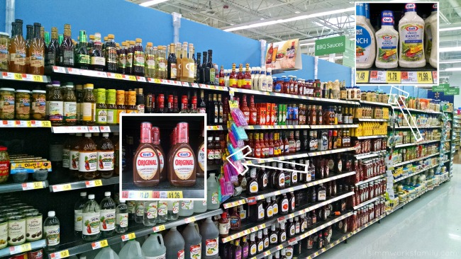 BBQ Sauce and Salad Dressings aisle at Walmart