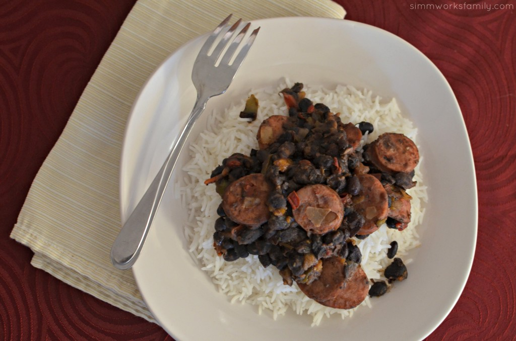 Black Beans and Rice with Sausage