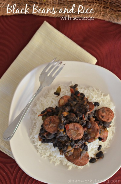 Black Beans and Rice with Sausage - a quick and easy dish that's perfect for any night of the week!