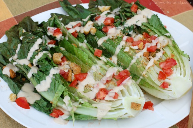Easy Dinner Ideas On The Grill grilled ceaser salad