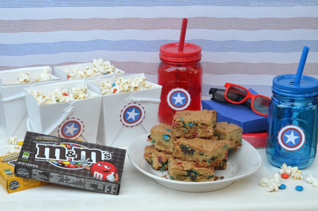 Family Movie Night Snack Recipes and Superhero Spread