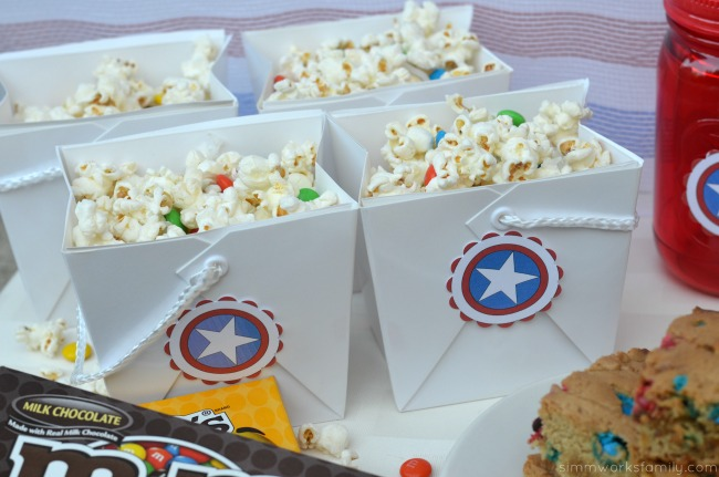 Family Movie Night Snack Recipes - m&ms popcorn