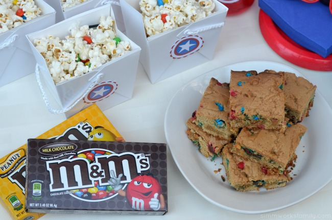 Family Movie Night Snack Recipes - m&ms snack packs