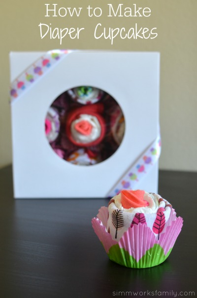 How to Make Diaper Cupcakes - a simple and easy tutorial for the perfect baby shower gift