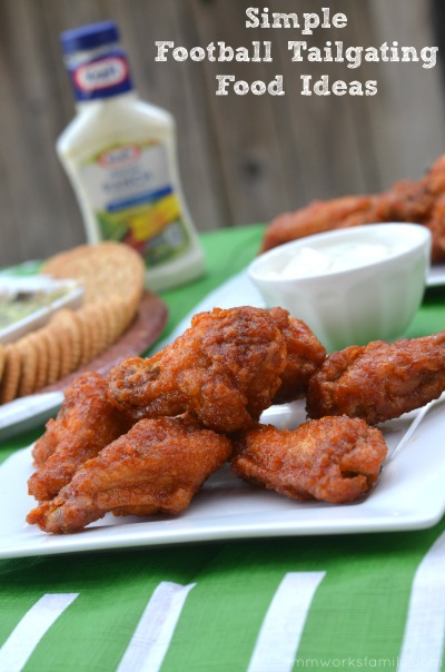 Simple Football Tailgating Food Ideas with Hot Wings + an Spinach Artichoke Dip recipe