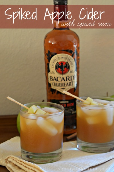 Spiked Apple Cider With Spiced Rum Drink Recipe  #SweetNLowStars