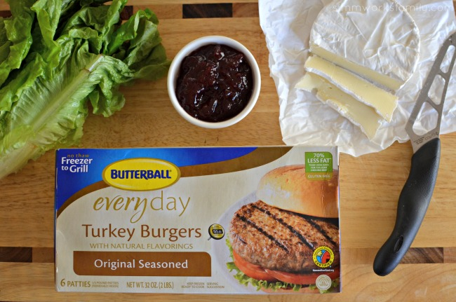 The Ultimate Thanksgiving Turkey Burger ingredients