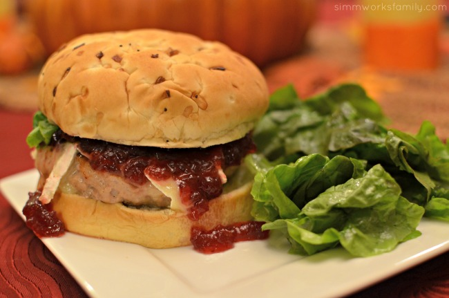 The Ultimate Thanksgiving Turkey Burger with salad