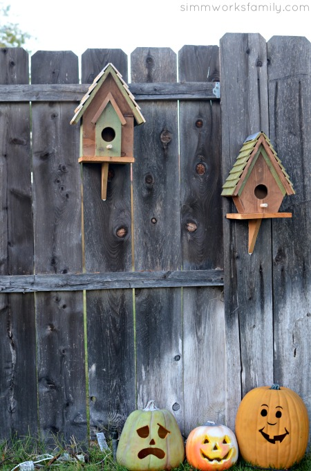 Easy DIY Birdhouses for Kids on the fence
