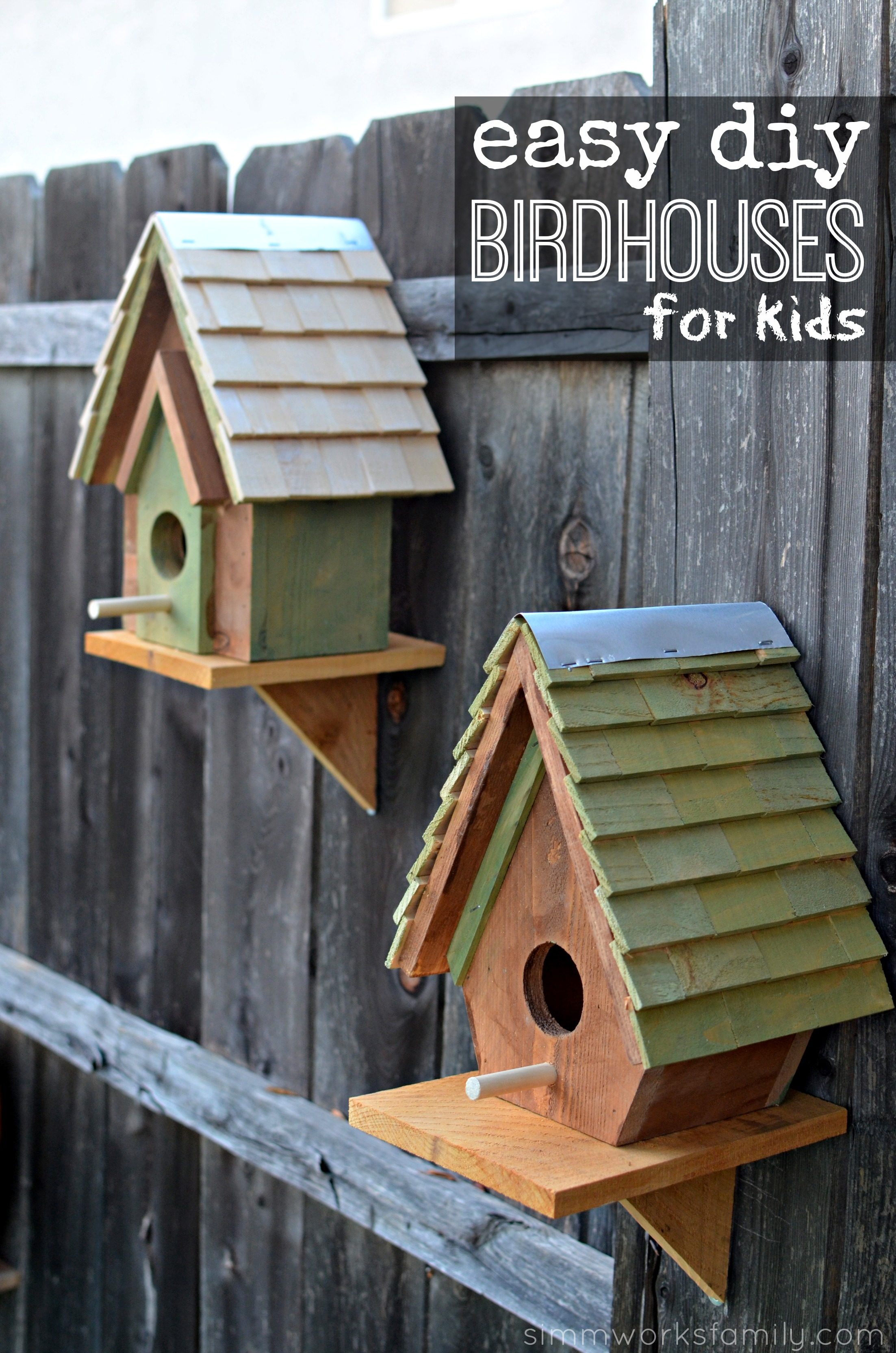 Easy-DIY-Birdhouses-for-Kids Simple Birdhouse Plans on free martin, free church, free printable wren, peterson bluebird,
