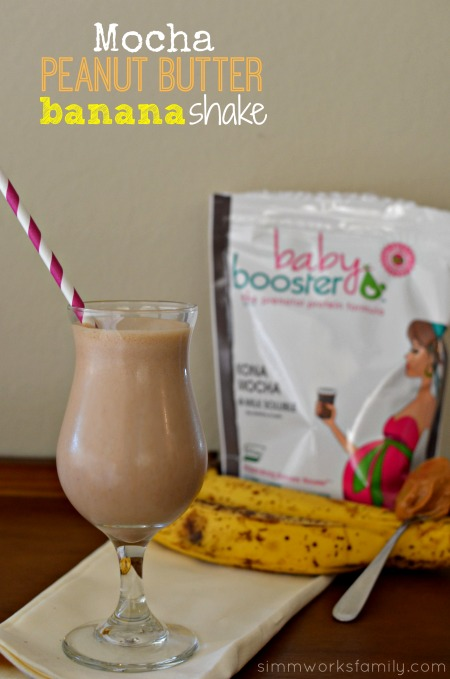 Mocha Peanut Butter Banana Shake with Baby Booster