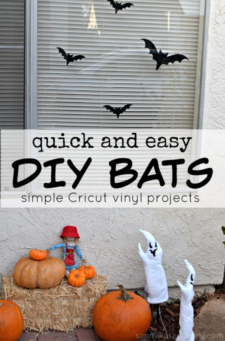Quick and Easy DIY Bats - Simple Cricut Vinyl Projects