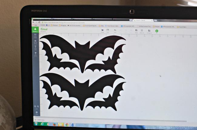 Simple Cricut Vinyl Projects - bats on Cricut Design