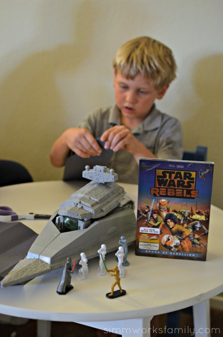 Star Wars Rebels Star Destroyer Inspired Paper Airplanes - Star Wars Rebels on DVD