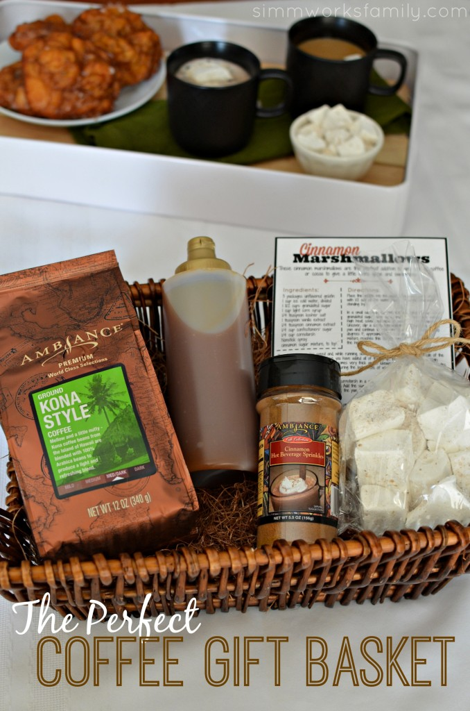 The Perfect Coffee Gift Basket plus a Cinnamon Marshmallow Recipe