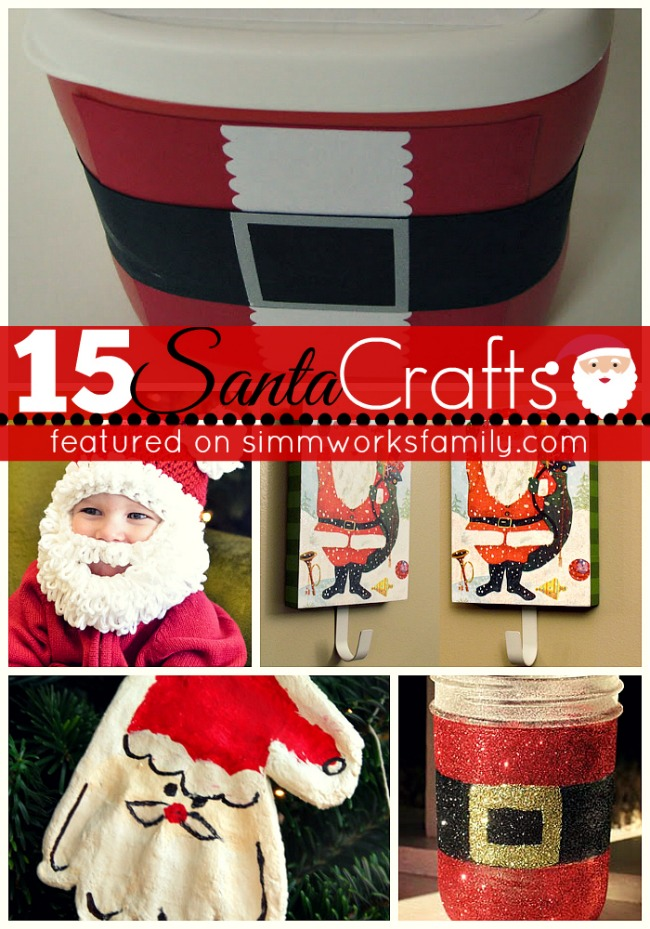 15 Santa Crafts - fun santa crafts to do during the holidays with or without the kids
