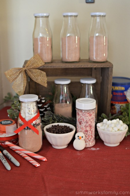 Christmas Gift Making Party Ideas - hot cocoa snowmen making station
