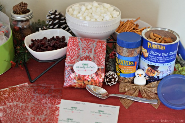 Christmas Gift Making Party Ideas - trail mix station