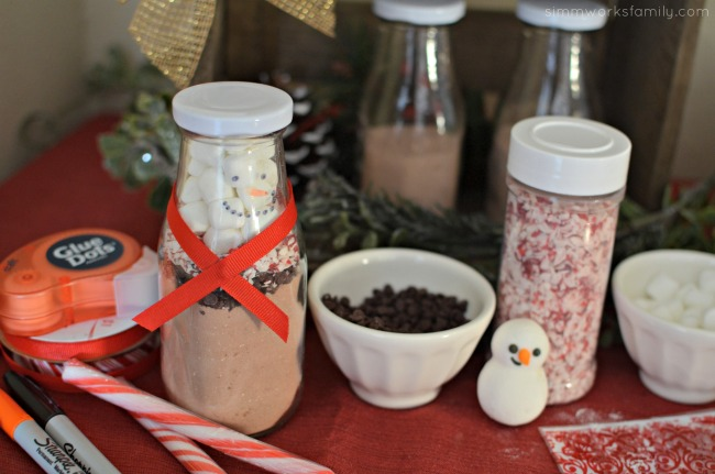 DIY Hot Cocoa Snowman Making Station