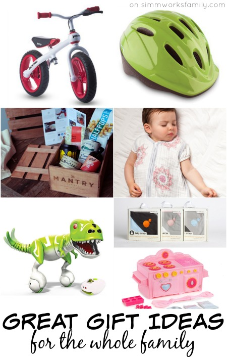 Great Gift Ideas for the Whole Family - from pregnancy and newborns to kids and adults!