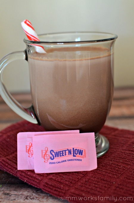 Grown Up Hot Chocolate with Sweet'N Low #SweetNLowStars