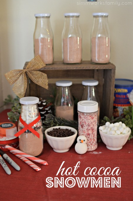 DIY Hot Cocoa Snowman - a great gift idea for the kids to make