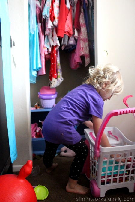 Kids Cleaning Tips - finding easy access storage