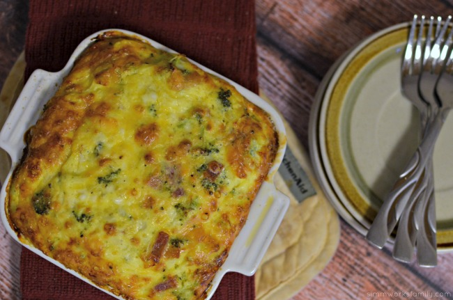 Quick and Easy Egg Bake Recipe with Bacon perfect for brunch