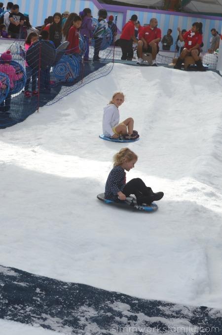 SeaWorld's Christmas Celebration - sledding