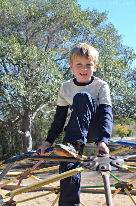 Winter Play Dates in San Diego - playdate on the jungle gym