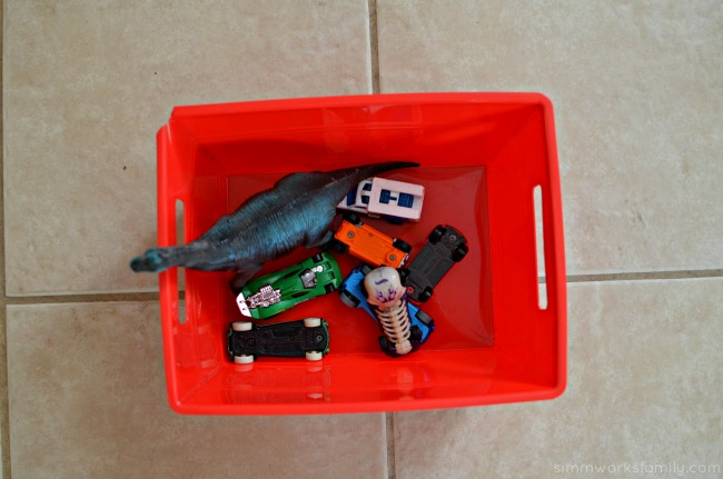 5 Tips for Cleaning The House Before a Party - bring a bucket for toys