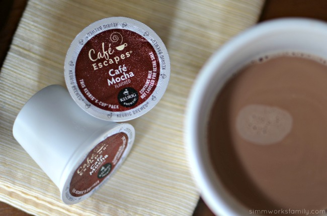 Coffee Gift Ideas with Keurig 2.0 cafe escapes cafe mocha k-cup packs