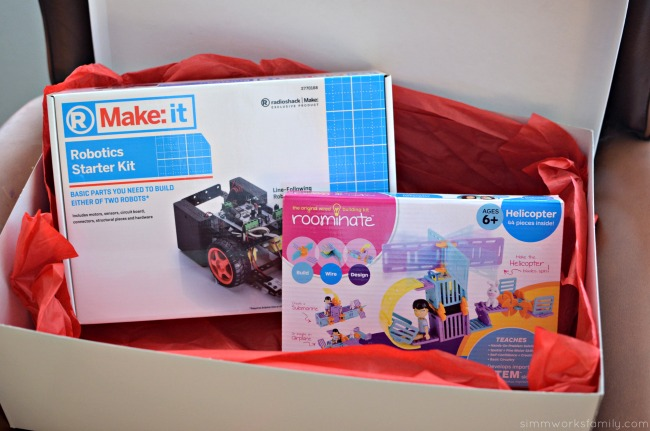 Creative Gift Ideas to Encourage Imagination - Make It Robotics Starter Kit and Roominate Helicopter