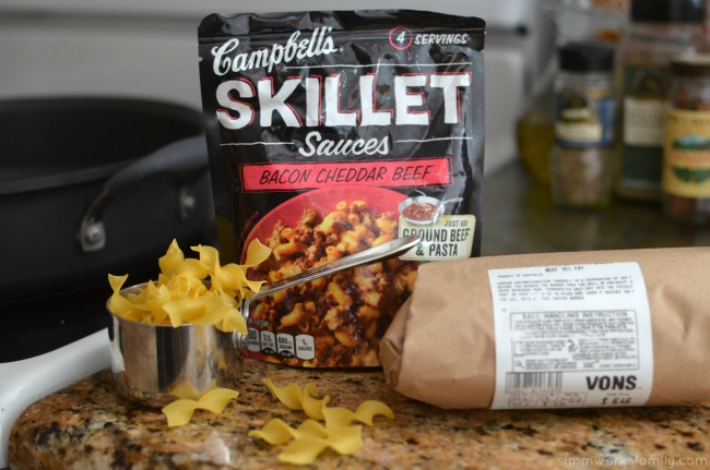 Easy Dinner Solutions for the Busy Mom - Campbell's Skillet Sauces Bacon Cheddar Beef #CampbellsSauces
