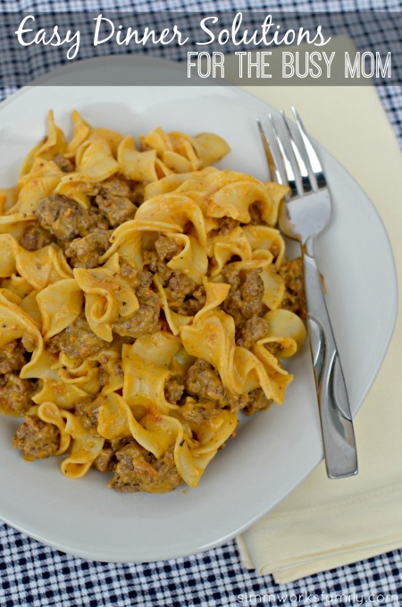 Easy Dinner Solutions for the Busy Mom - dinner ready in less than 30 minutes! #CampbellsSauces
